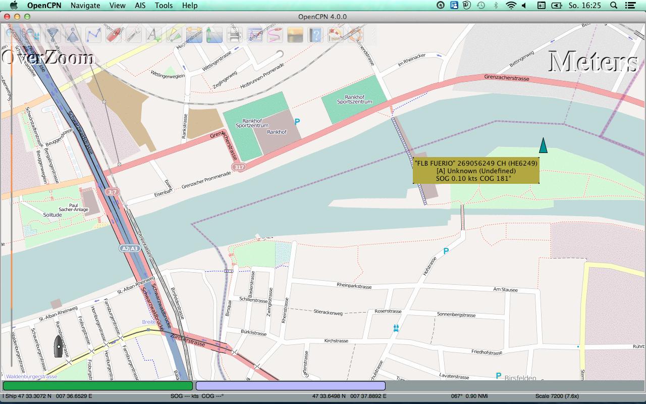 OpenCPN MacOs mit OpenSeaMap
